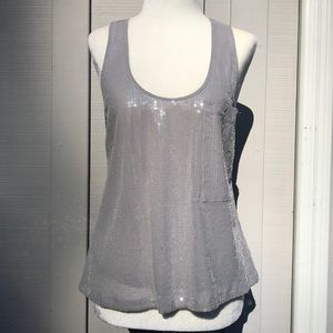 Michael Kors Grey Sequin Tank Top